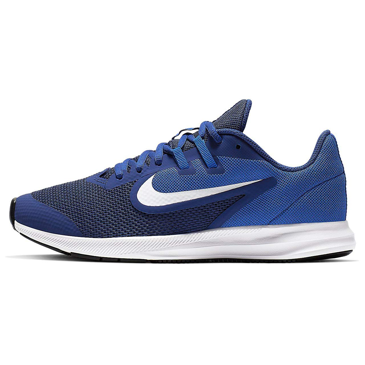 MultiCouleure (Deep Royal bleu blanc Game Royal noir 000) 38.5 EU Nike Downshifter 9 (GS), Chaussures d'Athlétisme Mixte Adulte