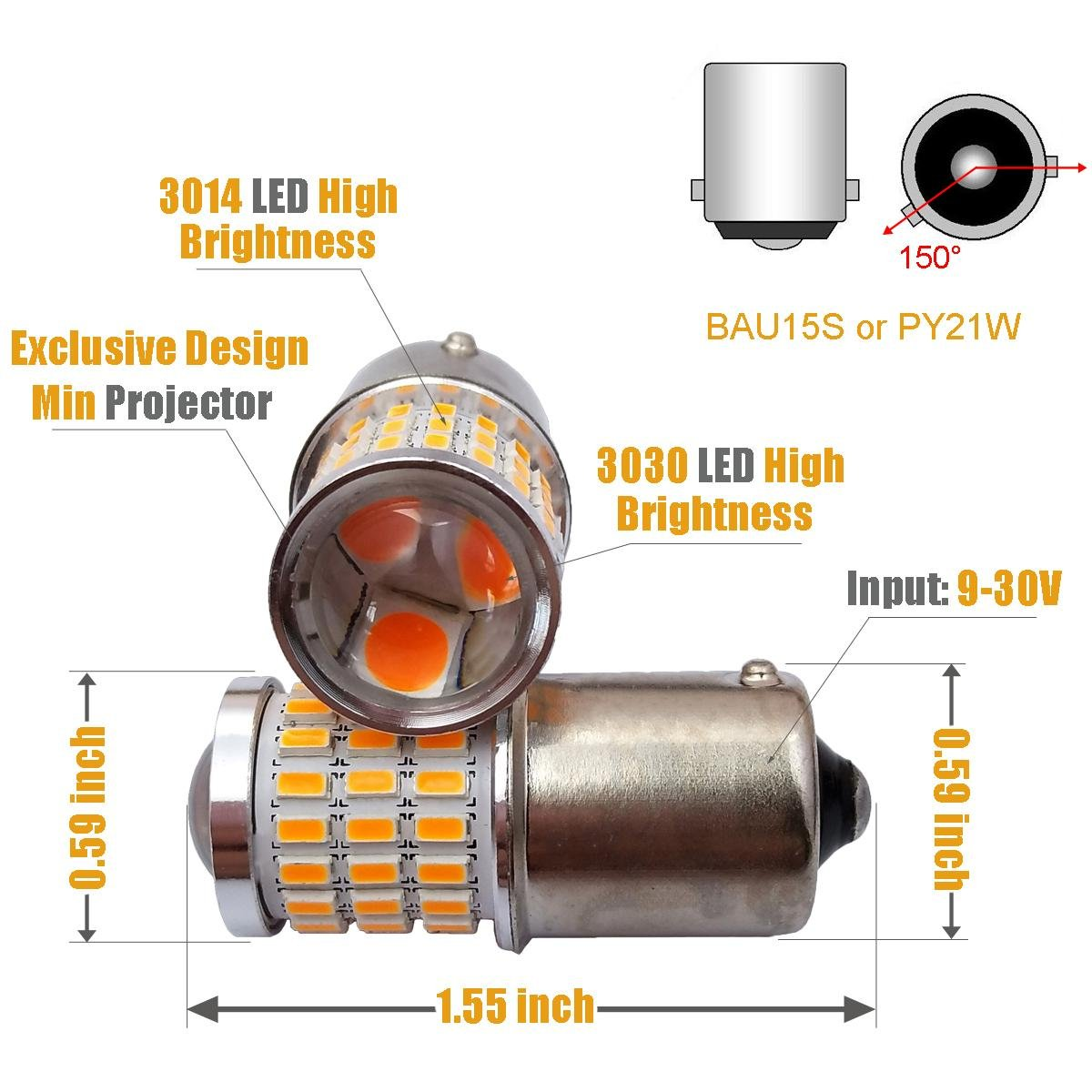 Replace tails and turns with LED bulbs 71b6livpSJL._SL1200_