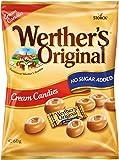 Werther's Original Cream Candies No Sugar Added Bag, Irresistible Cream and Caramel Flavours with Lower Sugar, 60 g