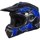 ILM Adult Youth Kids ATV Motocross Dirt Bike Motorcycle BMX MX Downhill Off-Road Helmet DOT Approved (Blue Black, Youth…