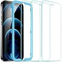 ESR Skärmskydd kompatibel med iPhone 12 Pro Max 3 stycken och monteringsram, klar, i12pm_gls_3_acs