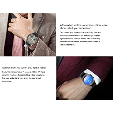 Docooler AllCall W1 Watch-Phone Heart Rate Smart BT Sport GPS 3G/2G 2GB RAM 16GB ROM MTK6580m Quadcore Android 5.1 Call Notification Pedometer MP3 MP4 ...