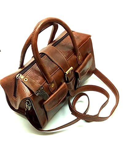 5c0061032311 Lilly Likes Leather - Shoulder Bag - Genuine Handmade Moroccan Leather  (Brown)