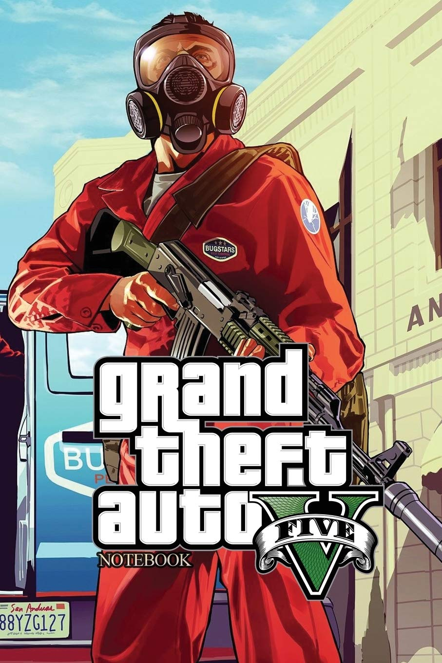 Grand Theft Auto V Five Notebook: Aka GTA 5 OR GTA V 120Empty Pages With  Lines Size 6 X 9: Amazon.es: Books, Crazy: Libros en idiomas extranjeros