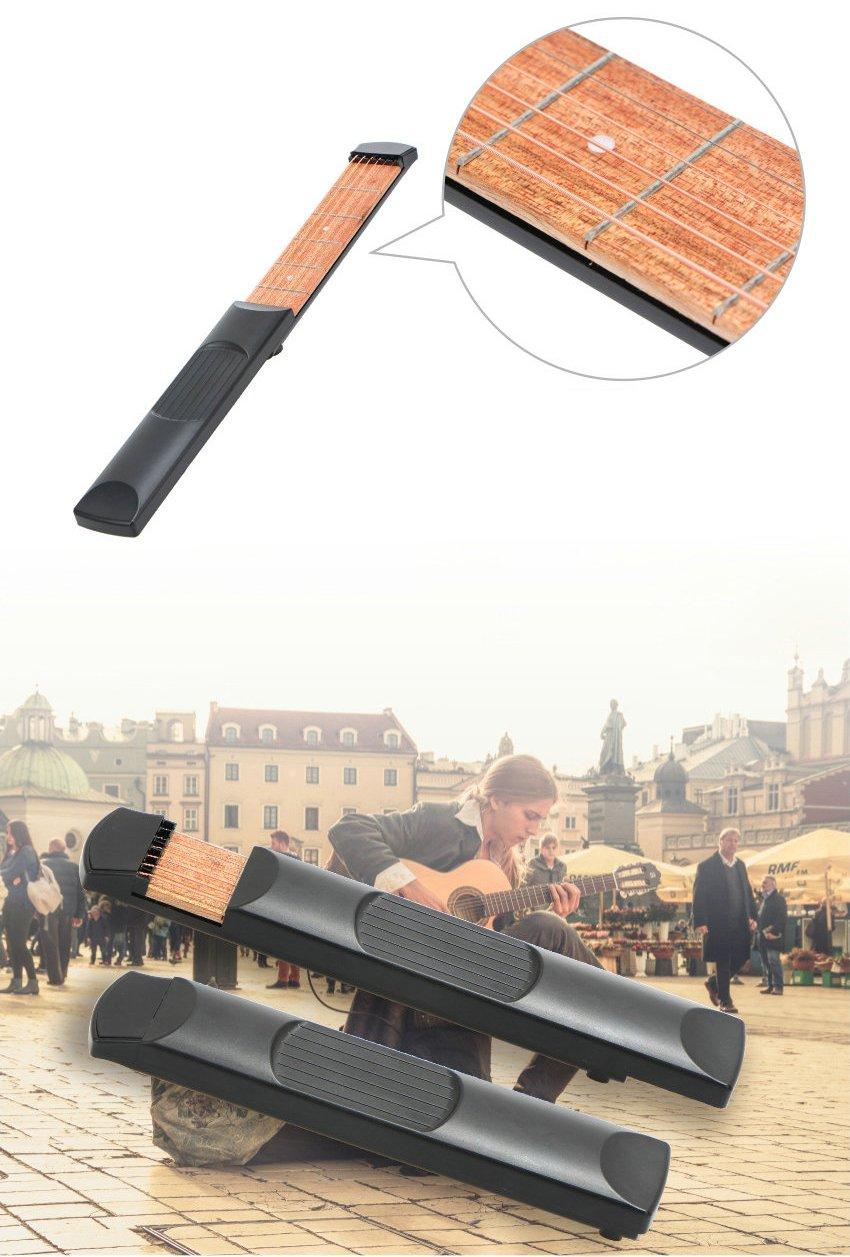 Mástil de guitarra de la marca HLHome, de bolsillo, para practicar escalas y acordes: Amazon.es: Instrumentos musicales