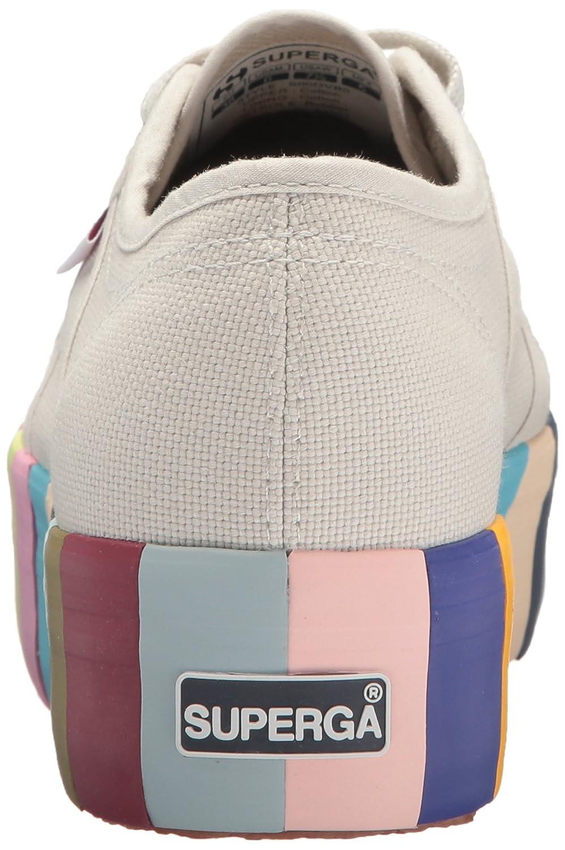 Superga Women's 2790 COT14COLORSFOXINGW Sneaker B073ZPKBS5 37 M EU (6.5 US)|Platinum