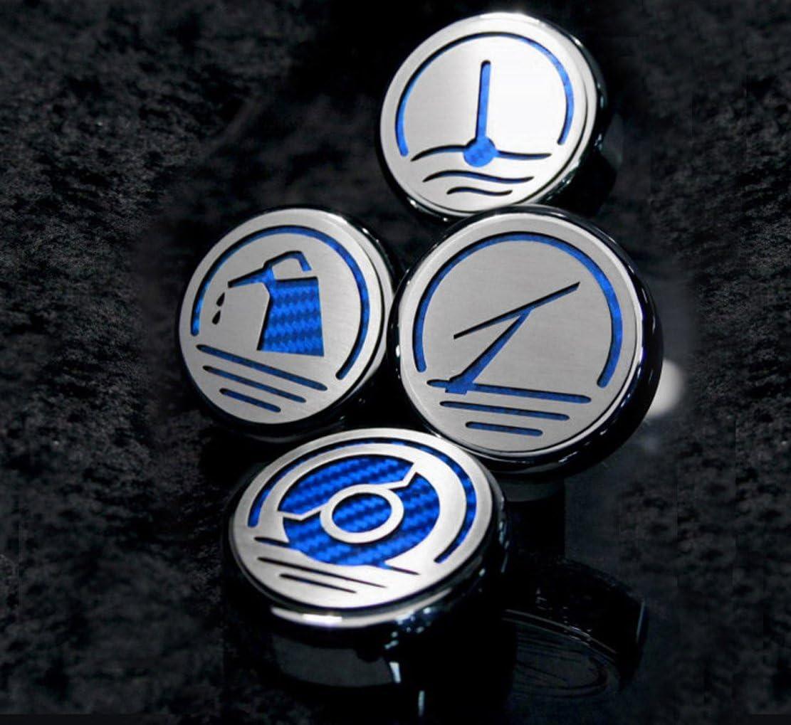 Carbon Fiber Executive Series Automatic Cf American Car Craft 273042-ORG Orange Cap Cover Set 4 Piece