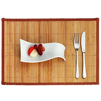 Kela 15518 Casa Set de table Bambou Brun Clair 45 x 30 x 1 cm ...