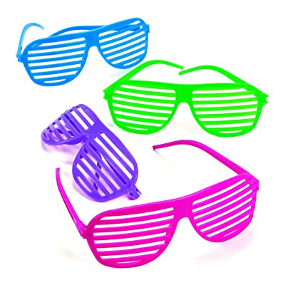 Fun Express Shutter Shades (1 Dozen) Apparel Accessories, Eyewear, Novelty Glasses: Toys & Games