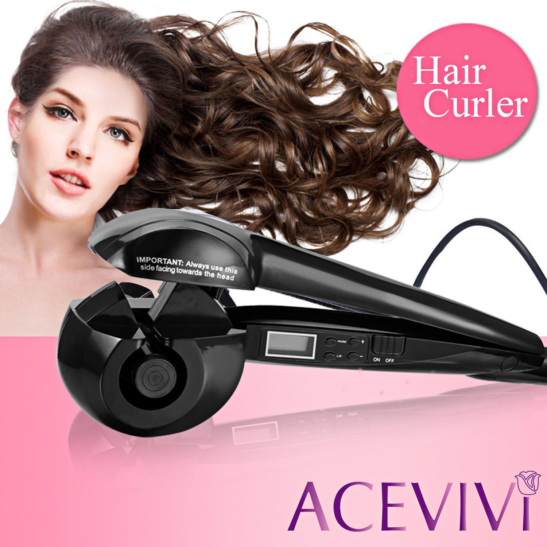 acevivi rizador de cabello pelo rizador Destornillador Ion con EU Conector LCD: Amazon.es: Belleza