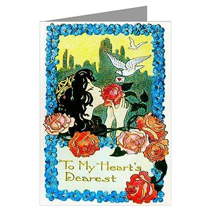 Unique gigante de rosas rojas y palomas amor Vintage día de ...