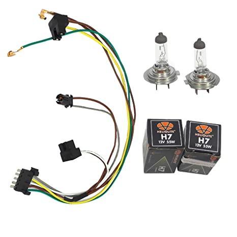 Amazon com: Left or Right Headlight Wiring Harness and H7