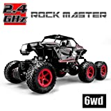 Hosim 6WD RC Rock Crawler, 1:14 Scale 2.4Ghz High Speed 20km/h RTR Off Road Truck Vehicle, All-Terrain 6x6 RC Buggy Climbing Car