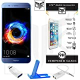 Honor 8 Pro Tempered Glass + OTG Adapter + Mobile Stand + Audio Splitter - TheGiftKart Super Value Combo