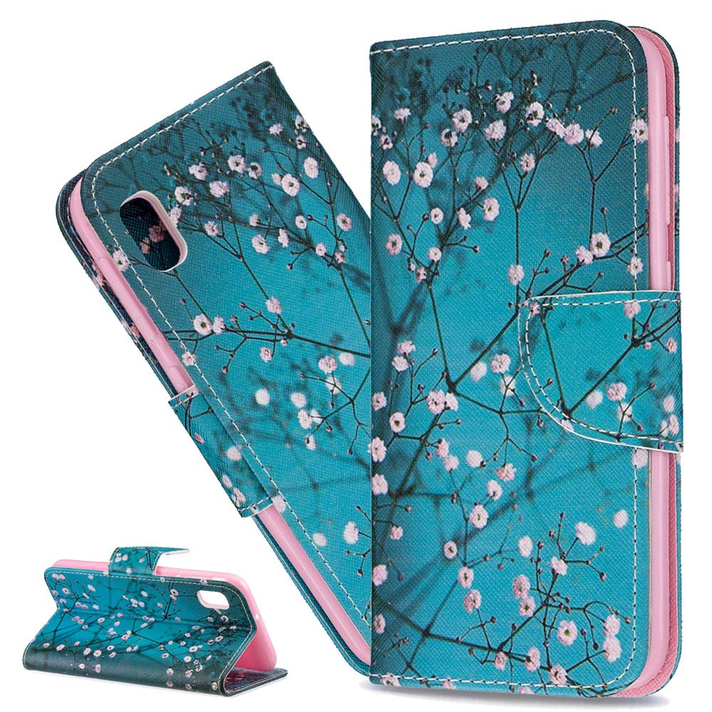 Butterfly Wing Black XD ISADENSER for Samsung Galaxy A10 Case Elegant Embossing Totem Butterfly Wing PU Leather Flip Wallet Bookstyle Magnetic Card Slot Stand Cover for Samsung Galaxy A10