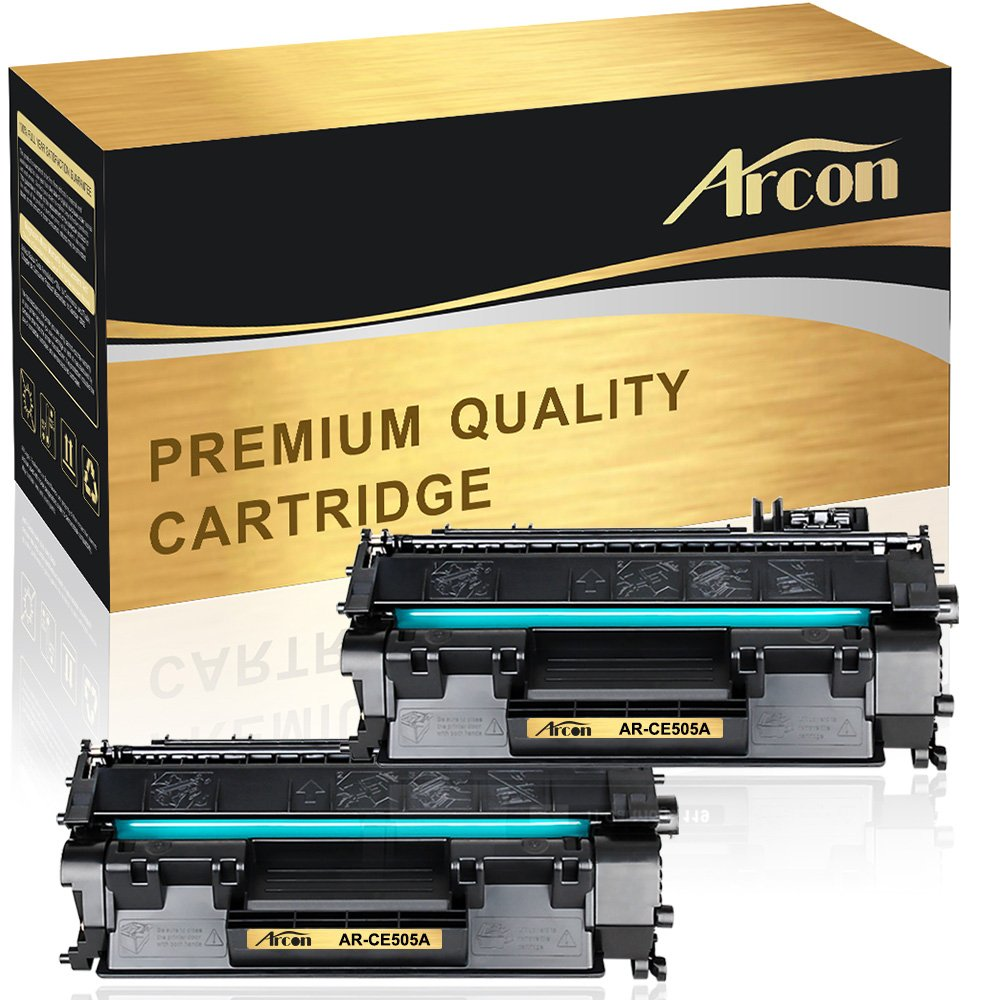 Arcon 2 Packs Compatible for HP 05A CE505A HP 80A CF280A Toner Cartridge for HP Laserjet Pro 400 MFP M425dn M401n M401dne HP Laserjet P2035 P2055dn P2035n M401a M401d M401dn M401dw M425dw Printer Ink