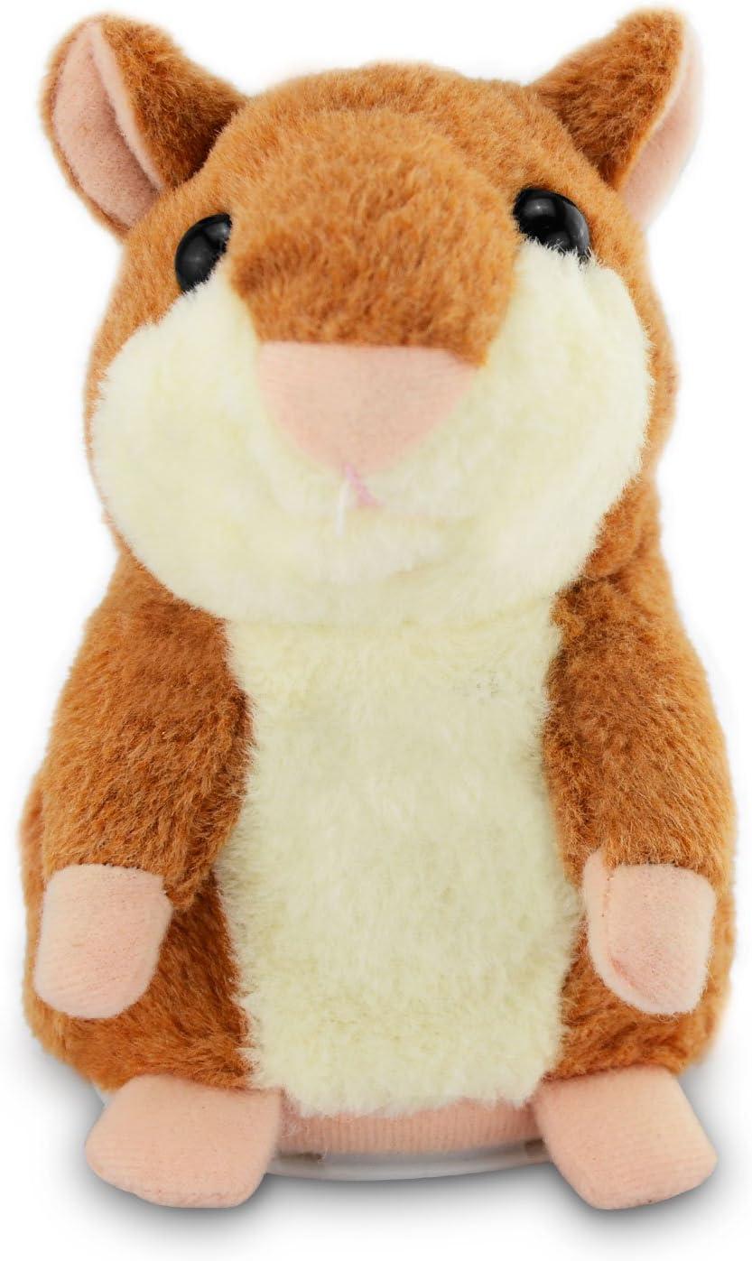 Geschenk f/ür m/ädchen 15 cm CestMall sprechender Hamster wiederholt-Funktion Talking Hamster pl/üschhamster Pl/üschtier Spielzeug/f/ür Kinder
