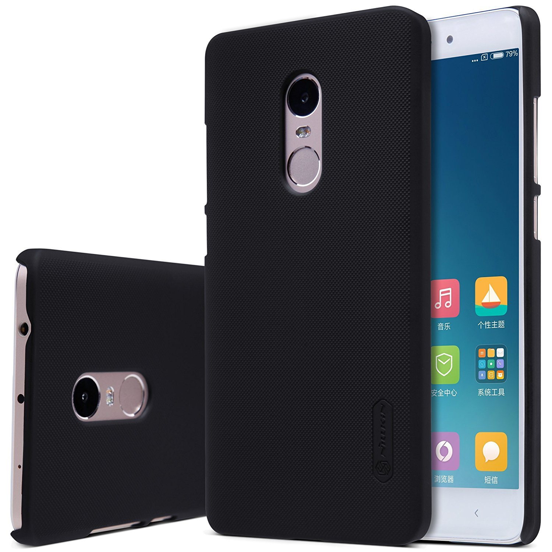Nillkin Frosted Shield - Carcasa trasera protectora y antideslizante + film de pantalla para Xiaomi Redmi Note 4 - Negro
