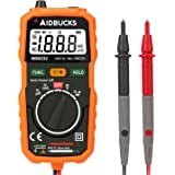 AIDBUCKS MS8232 Auto-Ranging Pocket-Sized Digital Multimeter Non-Contact Voltage (NCV) Test-Function Beginner-Level Measuring Instrument AC/DC Amp Volt Ohm Diode