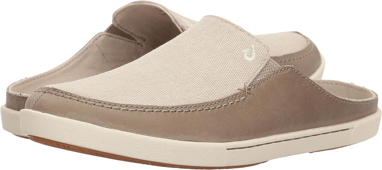 OLUKAI Women's Huaka Backless Sneaker B0733GX4T9 6 B(M) US|Silt/Tapa