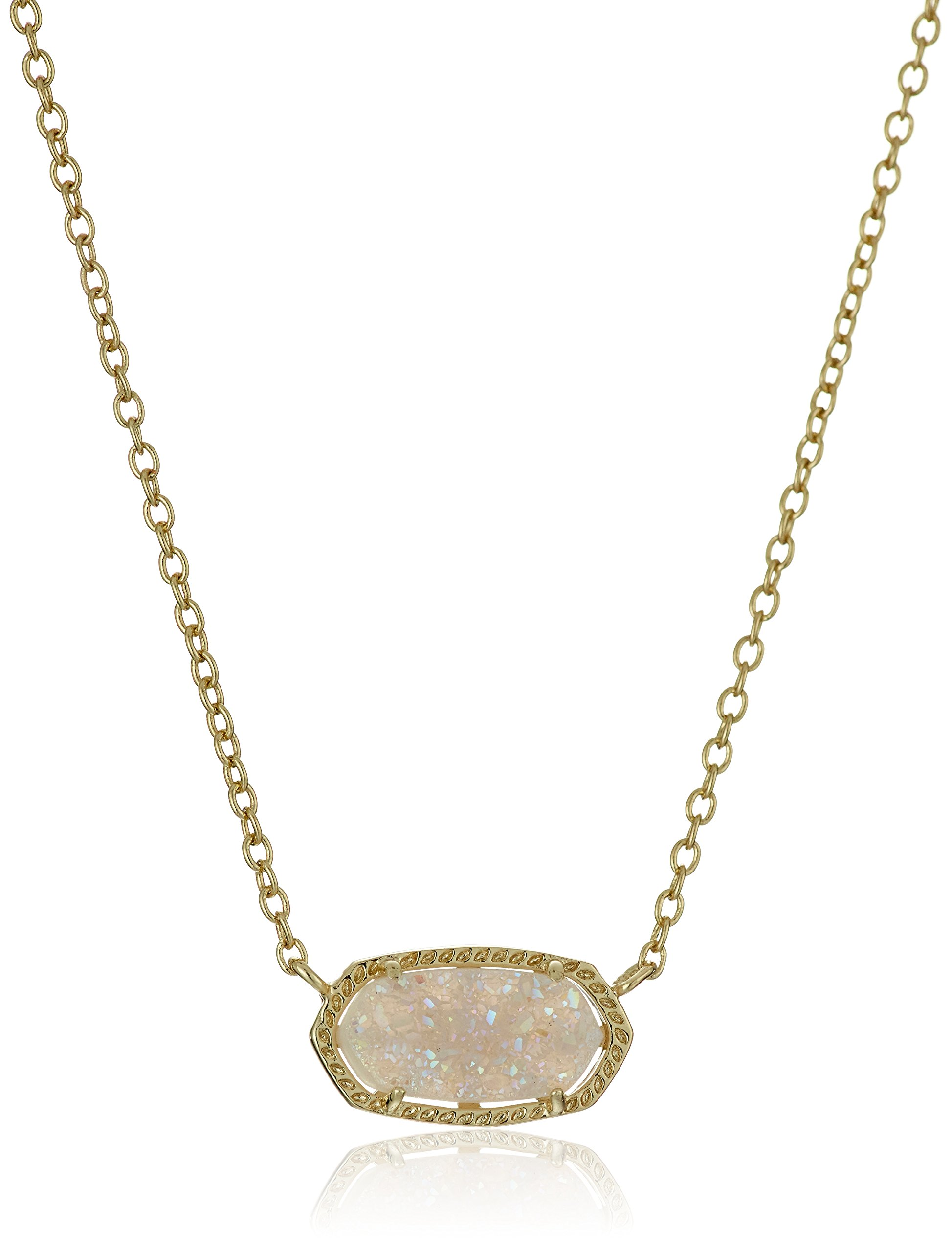 Kendra Scott ''Signature'' Elisa Gold plated Iridescent Druzy Pendant Necklace