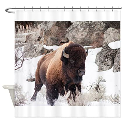 Image Unavailable Not Available For Color CafePress Buffalo Shower Curtain
