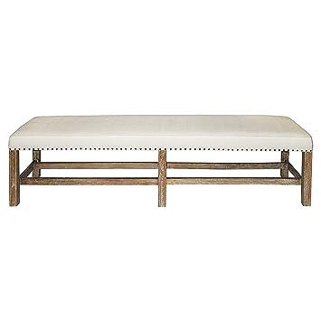 Amazoncom Aquitaine Grey Wash Wood French Country Bench Kitchen - French country bench