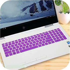 2017 15 15.6 Inch Laptop Keyboard Cover Protector for Hp Spectre X360 15-Inch (2018) 2-in-1 Laptop 15-Ch011Nr 15-Ch011Dx-Purple-