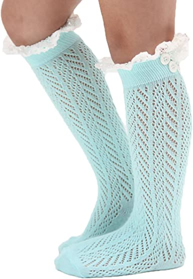 1 Pair Baby Cotton CuteKids Stockings Knee High Socks Anti-Slip Long Leg Warmer