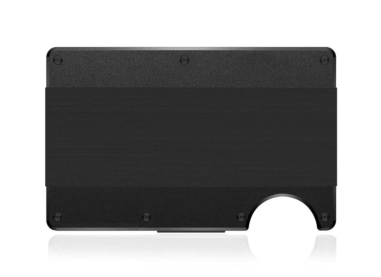 Rose Gold XL RFID RFID Minimalist Aluminum or Carbon Money Clip and Cash Strap Multipurpose Pharos Smart Wallet