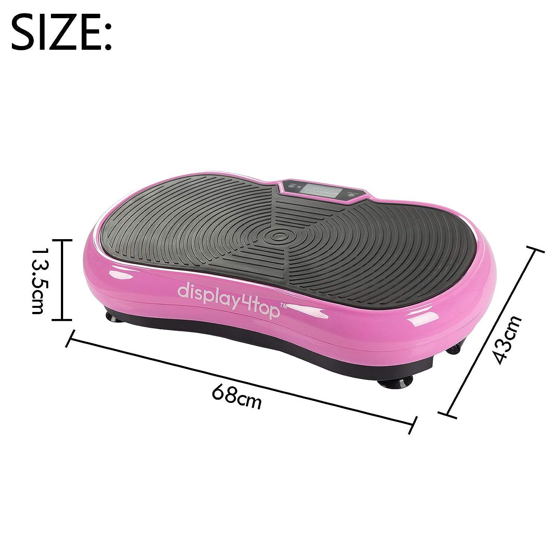 Piattaforma Vibrazione er Il Fitness a casa e la Perdita di Peso Display4top Pedana Vibrante Ultra Slim 5 Programs 180 Levels Carico Massimo 150 kg con Altoparlante Bluetooth