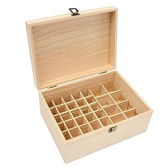 ChaRLes 38 Rejillas Botellas De Madera Almacenamiento Caja Para Aceite Esencial 10Ml-100Ml: Amazon.es: Industria, empresas y ciencia