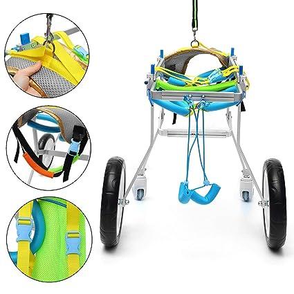 AnnCWLY Carro De Aluminio para Silla De Ruedas para Mascotas, para Discapacitados, Perro,