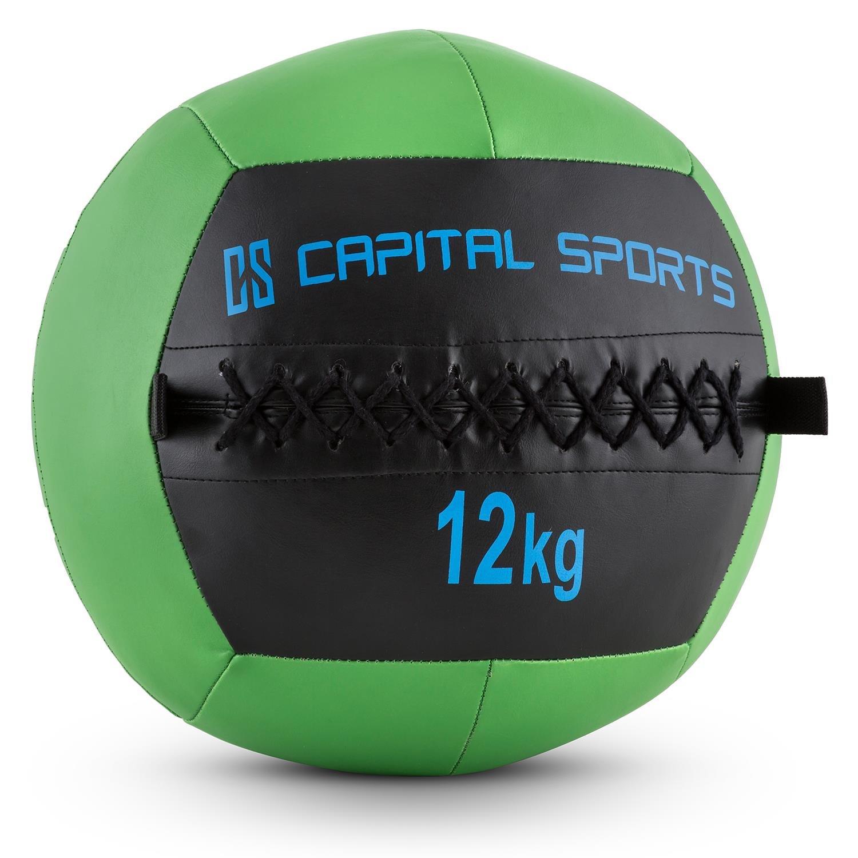 Capital Sports Wallba Balón medicinal de cuero sintético peso kg forro exterior