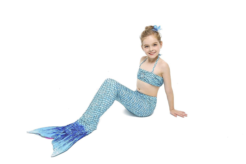 HHD 3/Piece Set Girl Mermaid Tail Mermaid Bikin Swimwear Swimsuit Sets