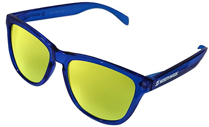 NORTHWEEK Gafas de sol ALL Bright Blue   lente Gold polarizada