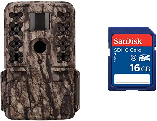 Moultrie M-50 20MP Low Glow Infrared Game Trail Camera, Camo 16GB SD Card