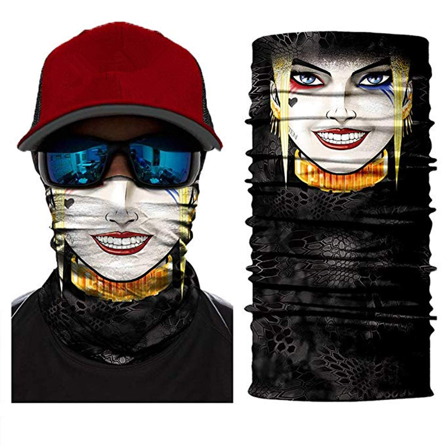Mask Neck Gaiter Shield Scarf Bandana Seamless Stretchable Bandana Wind//Sun Protection