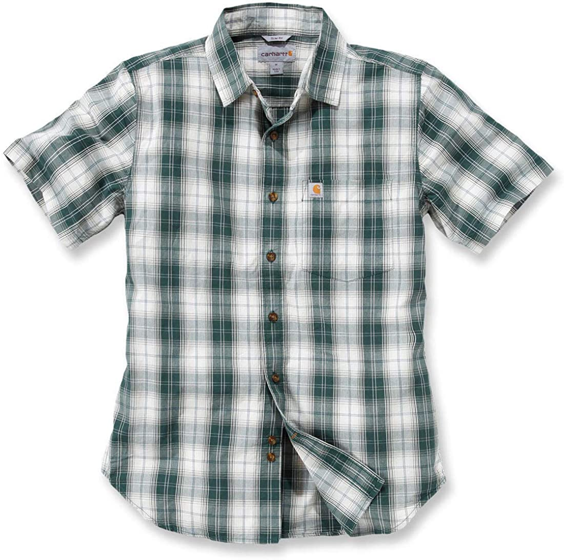 Carhartt - Camisa casual - para hombre verde Hunter Verde Medium: Amazon.es: Ropa y accesorios