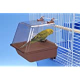 Penn Plax Clip-On Bird Bath – Comes With Universal Clips to Attach to Most Birdcages, 5.5 x 5.75 x 3.75 Inches