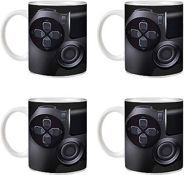 STUFF4 Taza de Café/Té 350ml/4 Pack Playstation PS4/Consola de juegos/Cerámica Blanca/ST10: Amazon.es: Electrónica