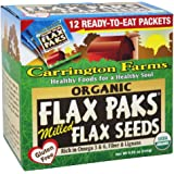 Carrington Farms - Flax Paks Flax Seeds Milled Organic - 12 Packet(s) (pack of 2)