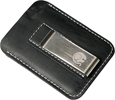 New Men Faux Leather Black Slim Money Clip Credit Card Holder ID business Wallet