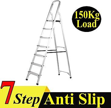 Escalera de 7 peldaños de aluminio plegable multiusos escalera escalera escalera pintores escalera multiuso resistente al