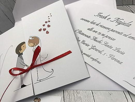 Matrimonio Inviti Partecipazioni.Set Partecipazioni Nozze Personalizzate Inviti Matrimonio Buonanno