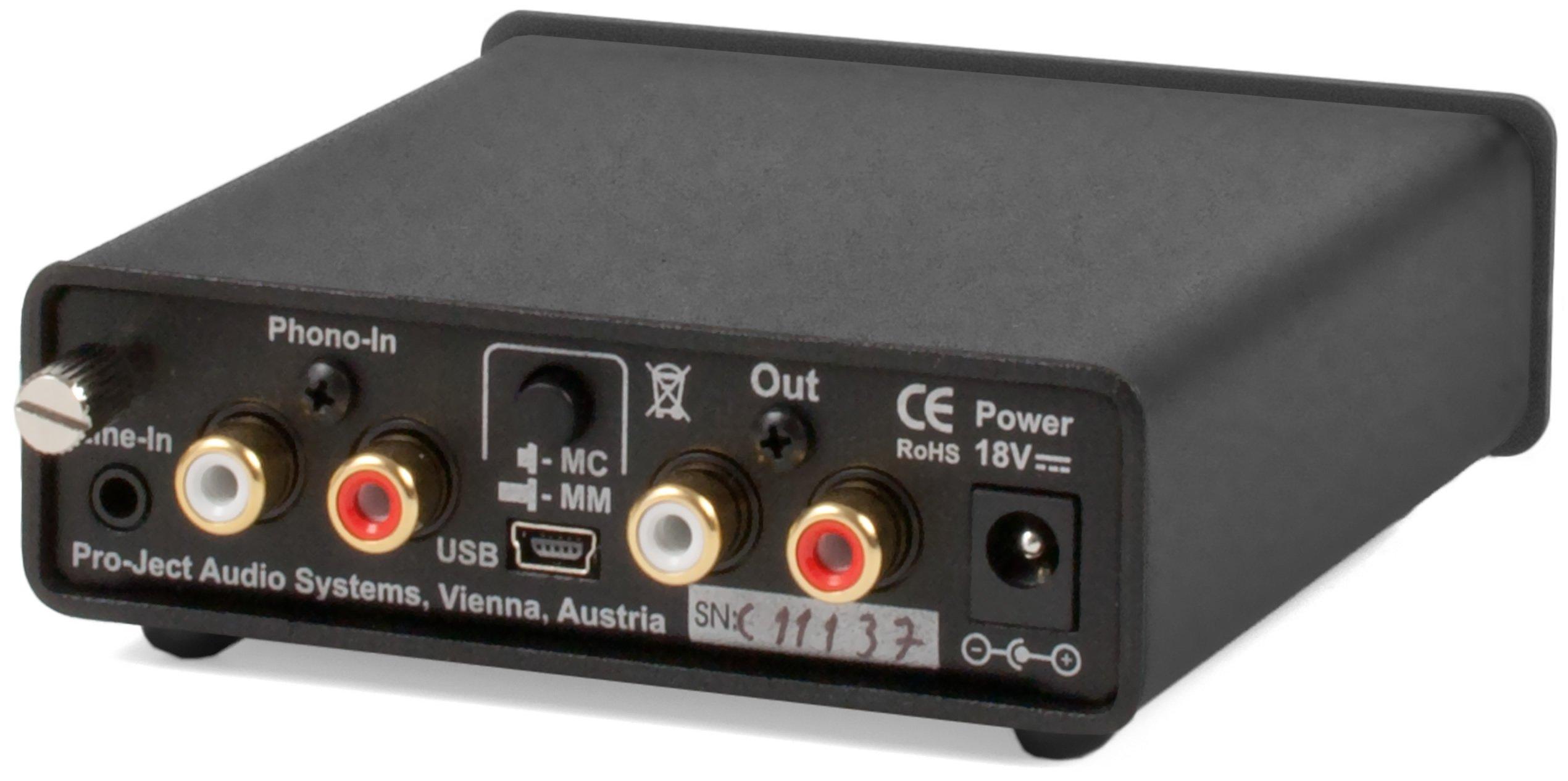 Pro-Ject Phono Box USB V Phonograph Preamplifier, Black by Pro-Ject