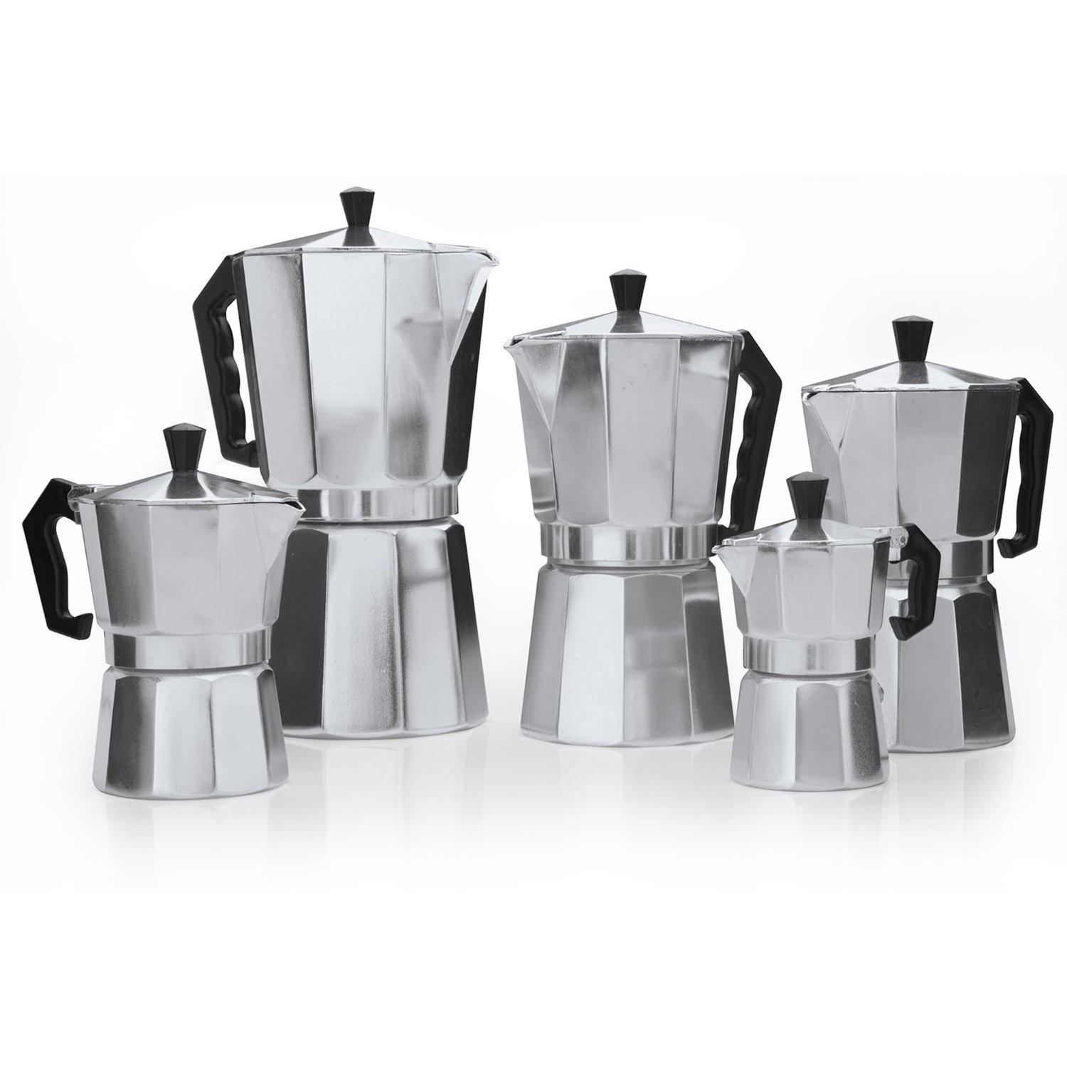 Classic 9-Cup Aluminum Stovetop Espresso Mocha Coffee Maker by Pride Of India by Pride Of India
