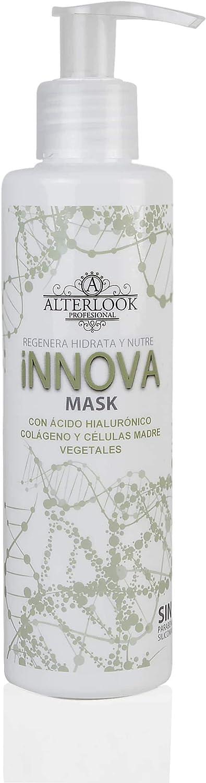 Mascarilla tratamiento células madres vegetales - Hidratación intensiva con ácido hialurónico y colágeno - Mascarilla para pelo seco y encrespado - INNOVA 200 ml