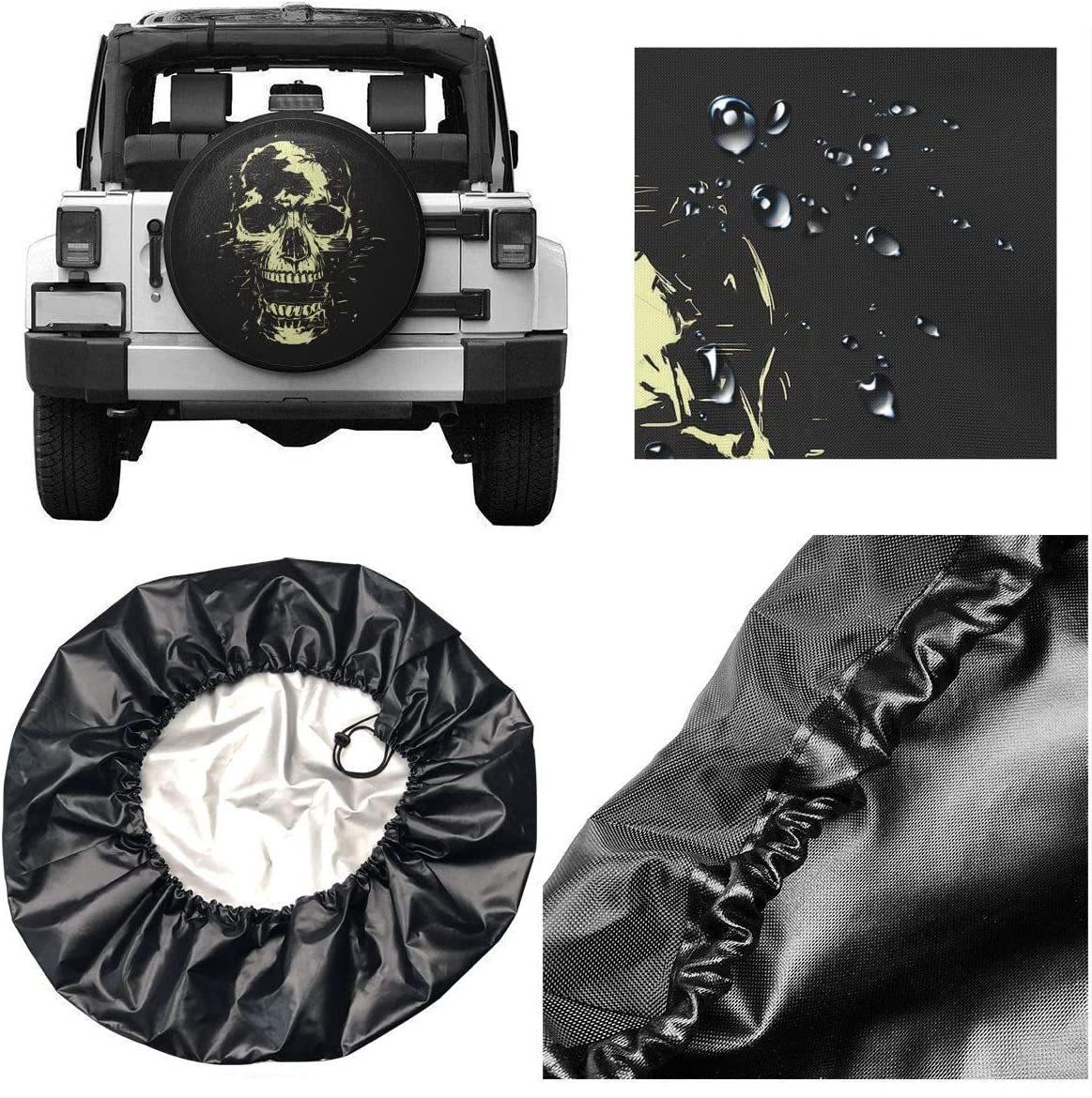 Vbnbvn Reserveradabdeckung Cool Pirate Ship Wheel Covers Tyre Cover Tires Protector Covers Weatherproof Tire Protectors