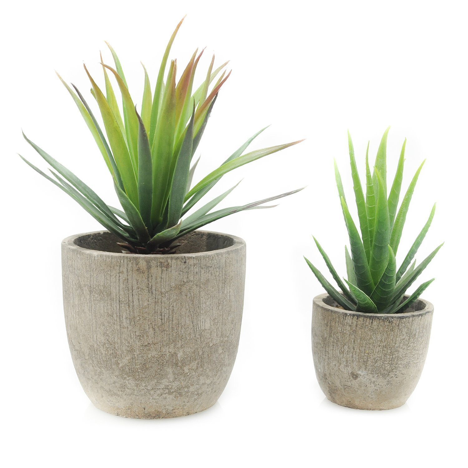 Amazon Velener Mini Home Decoration Artificial Plants Aloe With Pots Kitchen